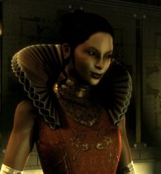 Zhao Yun Ru, head of Tai Yun Medical in Deus Ex. The more characters in this game are affiliated with high tehnology, the more renaissance their costumes.