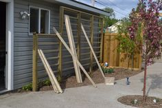 Attaching the Vertical Pieces to your Trellis