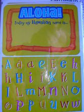 Just bought these!-----Hawaiian Luau 24 PARTY NAME TAGS - HALLMARK new in sealed pkg, CHRISTMAS PARTY