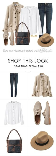 """""""Spencer Hastings inspired outfit/PLL"""" by tvdsarahmichele ❤ liked on Polyvore featuring Yves Saint Laurent, Uniqlo, Banana Republic, Gap, Rosetti and Stella & Dot"""