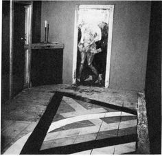 Anger's photograph of the Ritual Room of Crowley's Abbey Of Thelema (1955).
