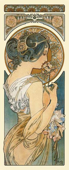Art nouveau poster Alphonse Mucha Art nouveau by OuttakePrints