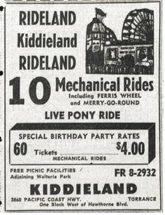 Kiddieland in Torrance California.
