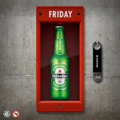 Heineken for an emergency Cocktail Drinks, Alcoholic Drinks, Beverages, Pub Sheds, Business Poster, Clever Advertising, Beers Of The World, Cheers, Beer Brands