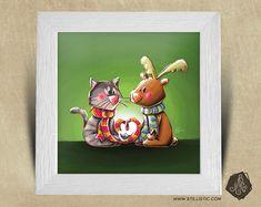 Cadre carré 25x25 cadeau Naissance avec Illustration Chaton et Renne pour Chambre Enfant bébé https://www.etsy.com/fr/listing/573562835/cadre-carre-25x25-cadeau-naissance-avec?ref=shop_home_active_63