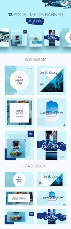 Blue Sky Social Media Templates - download freebie by PixelBuddha