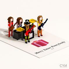 Voxel Rock Bands - BlenderNation