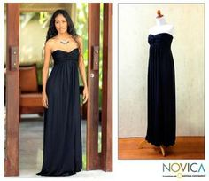 @Overstock.com - Rayon 'Black Bali Empress' Maxi Dress (Indonesia) - This strapless empire dress is designed by Galuh Kenanga. The black maxi dress has a wide elasticated back for an elegant fit and slips on.  http://www.overstock.com/Worldstock-Fair-Trade/Rayon-Black-Bali-Empress-Maxi-Dress-Indonesia/6603008/product.html?CID=214117 $94.99