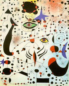 Codes et constellations dans l'amour d'une femme- Joan Miro