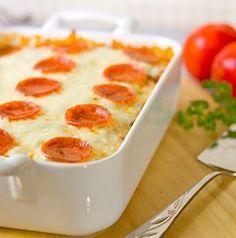 Bubbling Pizza Casserole