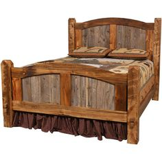 western queen headboard natural barnwood prairie bed saddleback western