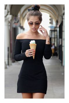 Off Shoulder min Black Dress Cute Dresses, Beautiful Dresses, Cute Outfits, Casual Outfits, Dress Skirt, Dress Up, Bodycon Dress, Dress To Impress, Casual Looks