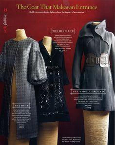 Spiegel in O magazine (coat on left)