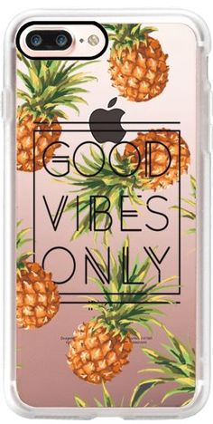 Casetify iPhone 7 Plus Case and other Pineapple iPhone Covers - Good Vibes Only Tropical Pineapples by Samantha Ranlet | Casetify