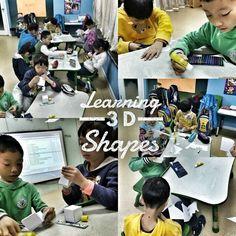 Teaching the kids shapes.  #3d #shapes
