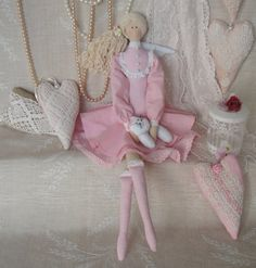 Tilda doll handmade Gloria