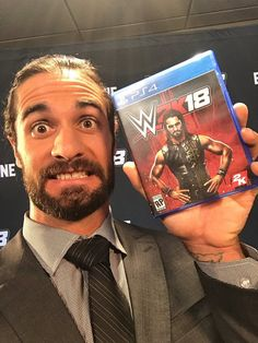Seth Rollins On tge cover of WWE2K18!