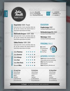 Plantilla CV and Cover Letter · Adobe Photoshop e Illustrator · Look2print
