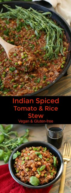 Warmly spiced with Garam Masala and cinnamon this Indian Spiced Stew in healthy, flavorful, and easy to make. A one pot recipe that's vegan and delicious!