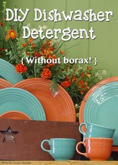 This great detergent recipe is affordable, borax free and won't leave your dishes cloudy!