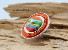 255 Upcyclingring orange NESPRESSO ® Linizio Lungo von KettenVielfalt auf DaWanda.com
