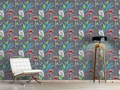 Design #Tapete Taugrau Bunt, Bouquet, Design, Home Decor, Self Adhesive Wallpaper, Exotic Flowers, Wall Papers, Nice Asses, Decoration Home