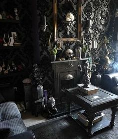 39 Attractive Diy Halloween Living Room Decoration Ideas is part of Gothic living rooms - Cute Candy Display First you can start with an easy to make holiday display Look around your home for any […] Cute Dorm Rooms, Cool Rooms, Glam Living Room, Living Room Decor, Living Rooms, Living Area, Living Spaces, Barbie Made To Move, Halloween Living Room