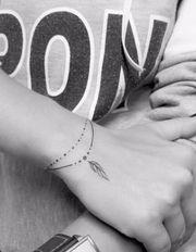 Le double bracelet plume