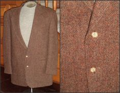 Harris Tweed Sport Coat LANDS END WooL 46 L by VoraciouslyVintage