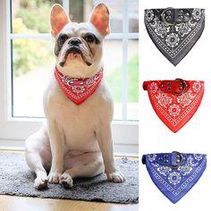 Doggy Gift Present Navy Blue Puppy Dog Slip Over Collar Bandanas Handmade Star Doggy Bandana