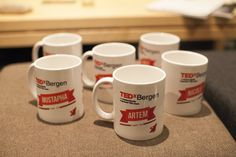 THANK YOU MUGS FOR TEDX BERGEN TEAM. GIFT. EVENT. DESIGNED BY N'AMOR