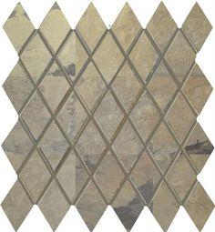 """#Interceramic - Rustic Lodge Golden Dawn Harlequin Mosaic 12"""" x 11"""""""