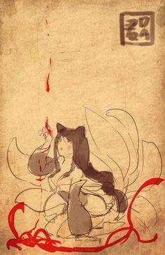 아리  by Dakun    Ahri from League of Legends