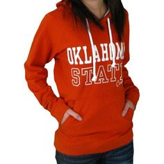 ON SALE! Oklahoma State University Cowboys Womens Orange Hooded Sweatshirt. This is so cute on! It's a great, light weight material.