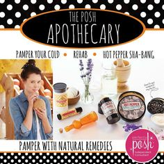 Not feeling well? Sore Muscles? Our Apothecary can help! check it out here https://www.perfectlyposh.com/?pref=1955851