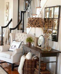 Rustic modern farmhouse living room decor ideas (22)