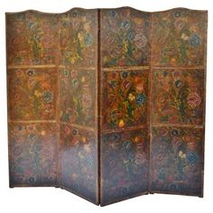 Check out this item at One Kings Lane! 18th-C. Flemish Embossed Leather Screen Mediterranee Antiques