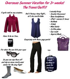 Overseas Summer Vacation for 3+ weeks: The Travel Outfit - Packing List