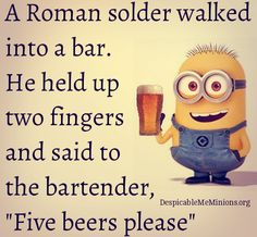 If you find this 5 Nerd Jokes funny, you probably are one. If you don't, ask your nerd friend. Funny Shit, Funny Jokes, Funny Stuff, Bar Jokes, Bartender, Winnie The Pooh, Minions, Roman, Nerd