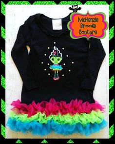 Frankie's Girl! Adorable Halloween dress from Mckenzie Brooke Couture! www.mckenziebrookecouture.com