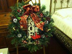"""Noel"" Wreath created by Donna Meerdink"