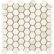 "Timeless Collection 1-3/4"" x 1-1/2"" Hexagon Mosaic in Calacatta Pearl"