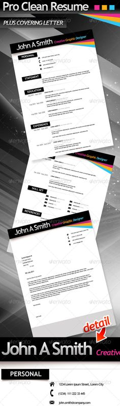 Pro Clean Resume & Cover Letter - Resumes Stationery