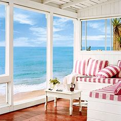 Crystal Cove Beach Cottage. Featured on Beach Bliss Living: http://beachblissliving.com/the-historic-crystal-cove-beach-cottages-in-southern-california/