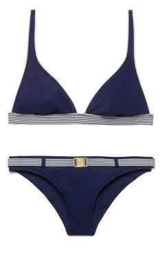 A chic French Riviera feel, a flattering shape... the Tory Burch Menton top and bottom