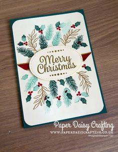 Peaceful Noel Christmas Card by Stampin' Up! Creative Christmas Cards, Christmas Cards 2018, Homemade Christmas Cards, Stampin Up Christmas, Christmas Paper, Xmas Cards, Christmas Greetings, Homemade Cards, Handmade Christmas