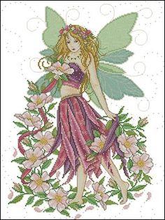 Фея роз схема вышивки крестиком