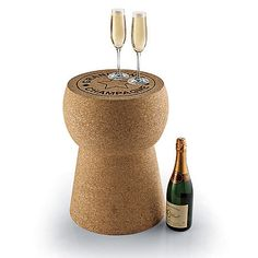 Champagne cork table. Such a cute table from WineEnthusiast.com