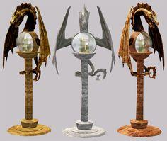 Dragon lamp recolors.
