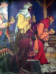 Christmas Lithograph. Three Wise Men.                              …